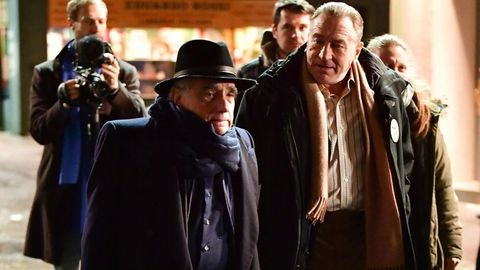 Martin Scorsese y Robert de Niro en el rodaje de The Irishman