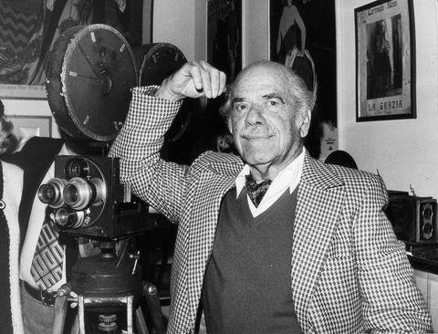 Frank Capra Visiting The Museum Of The Cinema