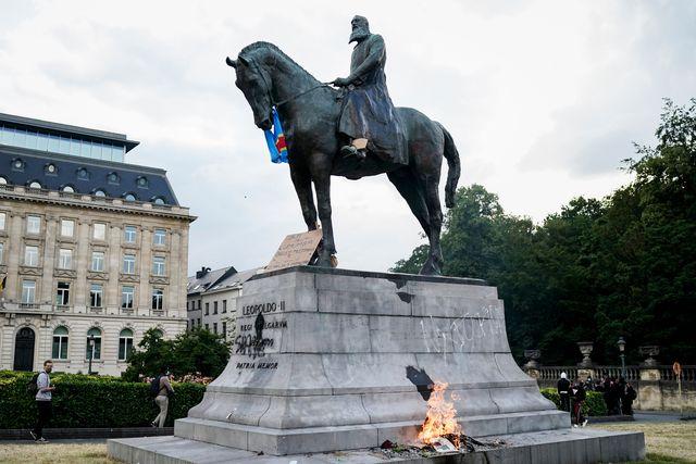 king leopold statue belgium black lives matter protest
