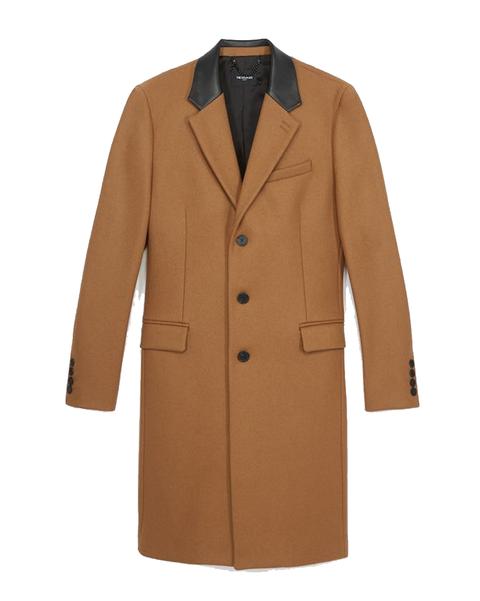 Clothing, Coat, Outerwear, Overcoat, Trench coat, Sleeve, Brown, Beige, Tan, Jacket,