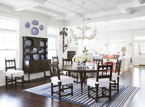 dining room lake house decorating ideas - cottage decor inspiration