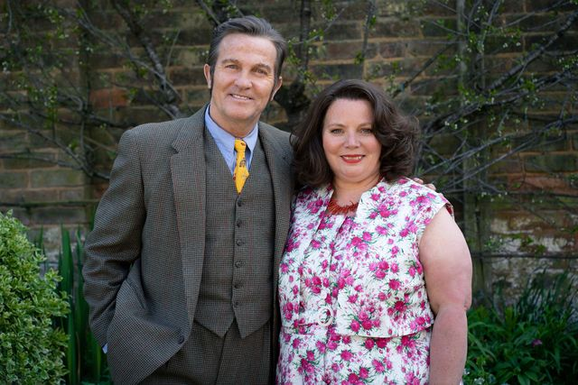 from objective fiction  genial productionsthe larkins on itv and itv hubpictured pop larkin bradley walsh and ma larkin joanna scanlanthis photograph is c objective fiction  genial productions and can only be reproduced for editorial purposes directly in connection with the programme or event mentioned above, or itv plc once made available by itv plc picture desk, this photograph can be reproduced once only up until the transmission tx date and no reproduction fee will be charged any subsequent usage may incur a fee this photograph must not be manipulated excluding basic cropping in a manner which alters the visual appearance of the person photographed deemed detrimental or inappropriate by itv plc picture desk  this photograph must not be syndicated to any other company, publication or website, or permanently archived, without the express written permission of itv picture desk full terms and conditions are available on the website wwwitvcompresscentreitvpicturestermsfor further information please contactjameshilderitvcom  0207 157 3052