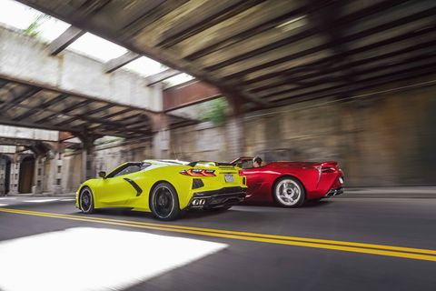 2020 chevrolet corvette stingray and 2021 lexus lc500 convertible