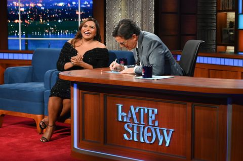 mindy kaling on the late show with stephen colbert