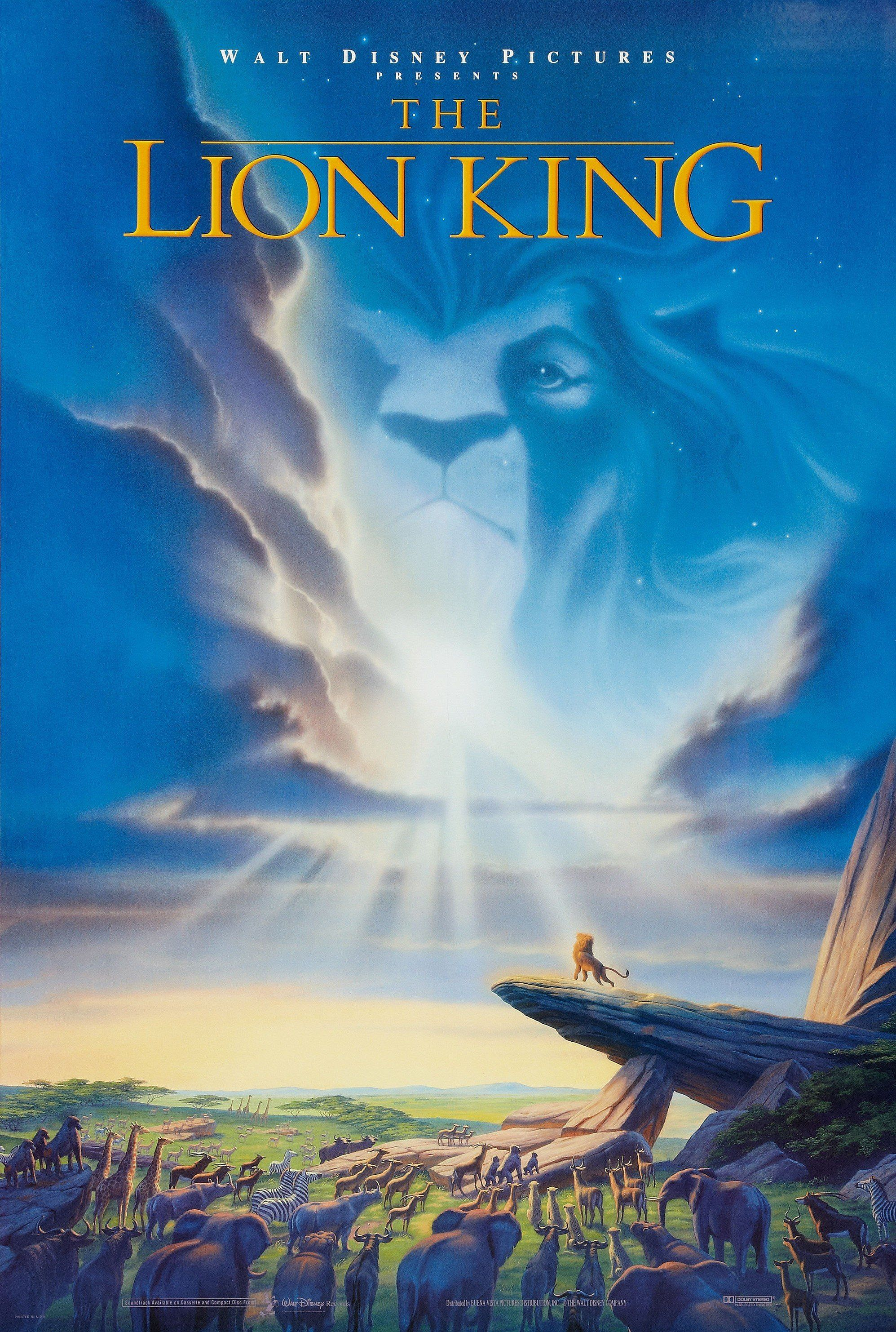 The Lion King (1994) The Lion King represents the peak of the Disney Renaissance and set box office records worldwide on its release. A clever retelling of Hamlet , the movie has as much drama and heart as any live-action film.
