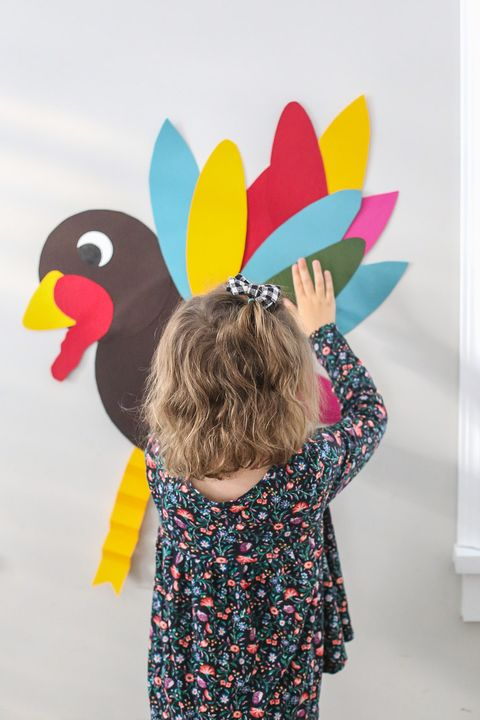 pin the tail on the turkey diy thanksgiving family games
