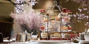 日本,旅遊,賞櫻,東京,半島酒店,櫻花季,下午茶,甜點,夜櫻,粉紅