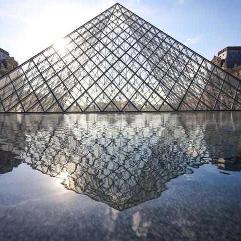 Paris Buildings Reflect Into Water