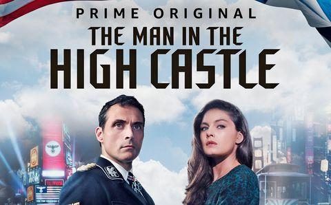 Rufus Sewell y Alexa Davalos en un cartel promocional de 'The Man in the High Castle'
