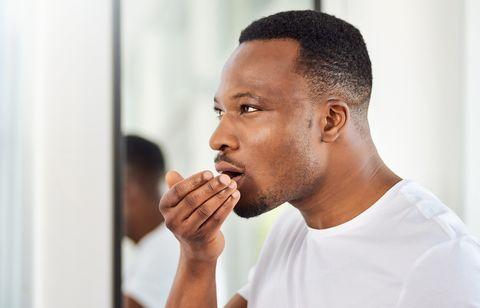 The mandatory morning breath check