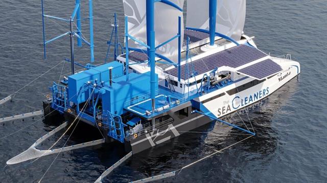 the manta, el barco que recicla mientras navega