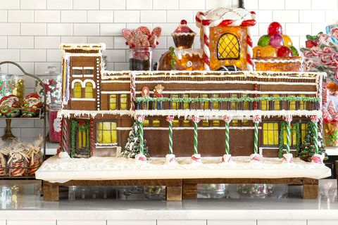 a gingerbread replica of the pioneer woman mercantile