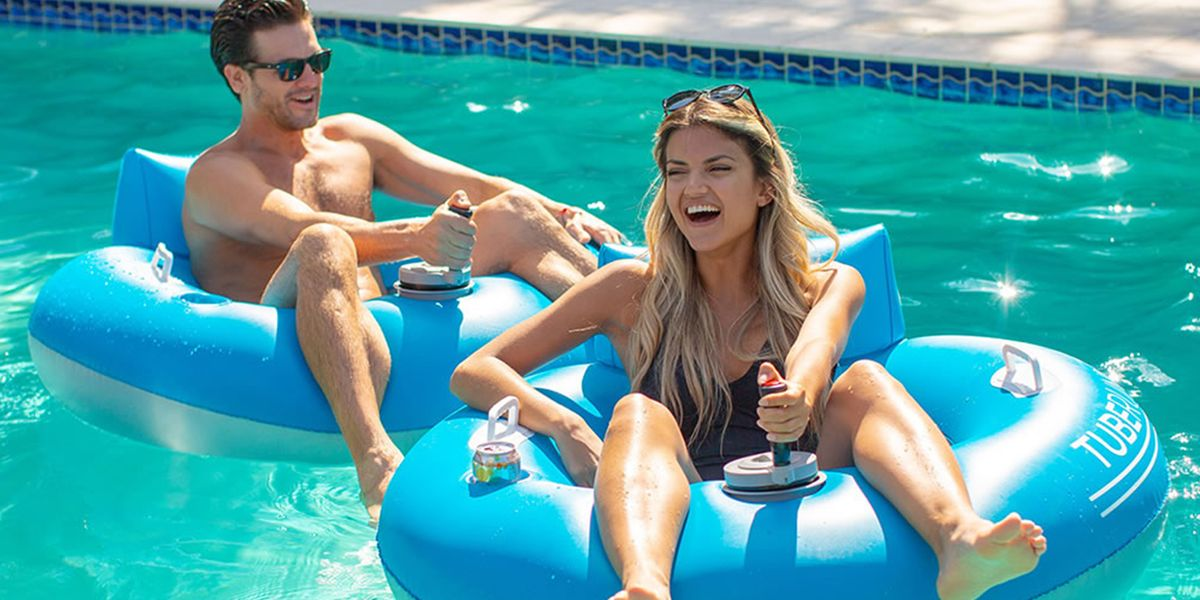 You Can Get Motorized Pool Tubes to Race Through the Water All Summer Long