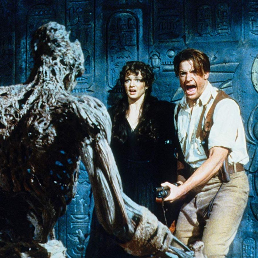 The Mummy Brendan Fraser stars in this remake of the classic Universal monster movie as an adventurer who teams up with an archeologist (Rachel Weisz) in search of Egyptian treasure—but their hunt only unlocks the tomb of an ancient (and angry) pharaoh.