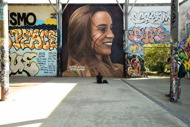 mural dedicated to luana d'orazio