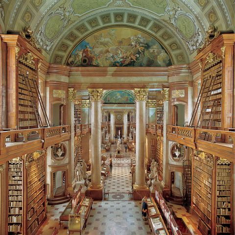 the national library in vienna the portico