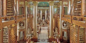The National Library In Vienna. The Portico