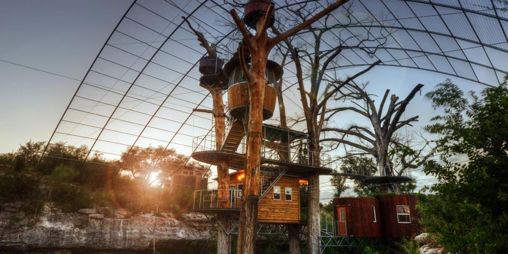 Cypress Valley Canopy Tours: The Nest treehouse