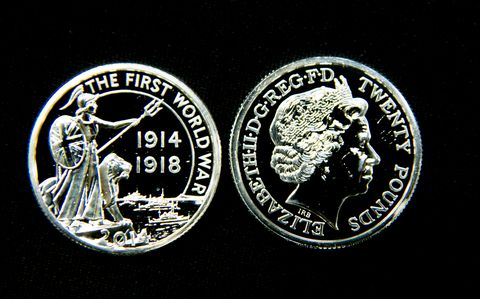 production of royal mint's commemorative ww1 centenary coin