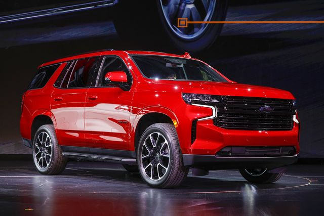 chevrolet reveals its new tahoe and suburban in detroit