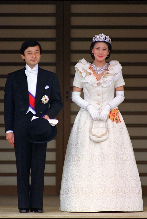 the newly wed crown prince naruhito and his wife