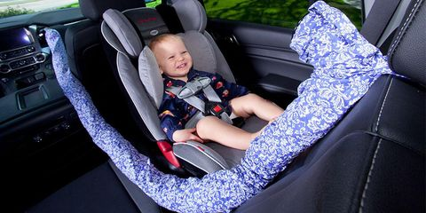 Car seat cover, Baby in car seat, Product, Car seat, Baby carriage, Seat belt, Baby Products, Auto part, Car, Vehicle,