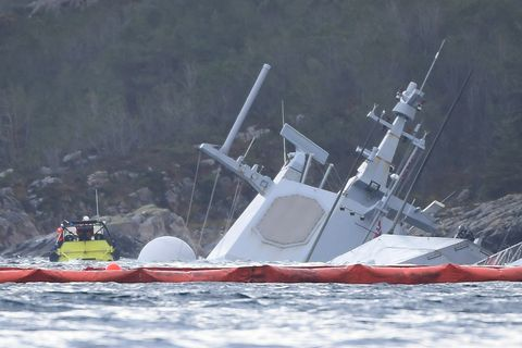 Helge Ingstad Wrecked Norwegian Frigate Is Doomed