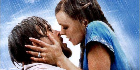 The Notebook, The Notebook kiss, Ryan Gosling, Rachel McAdams