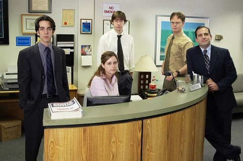 the office    season 1    pictured l r     photo by paul drinkwaternbcu photo bank