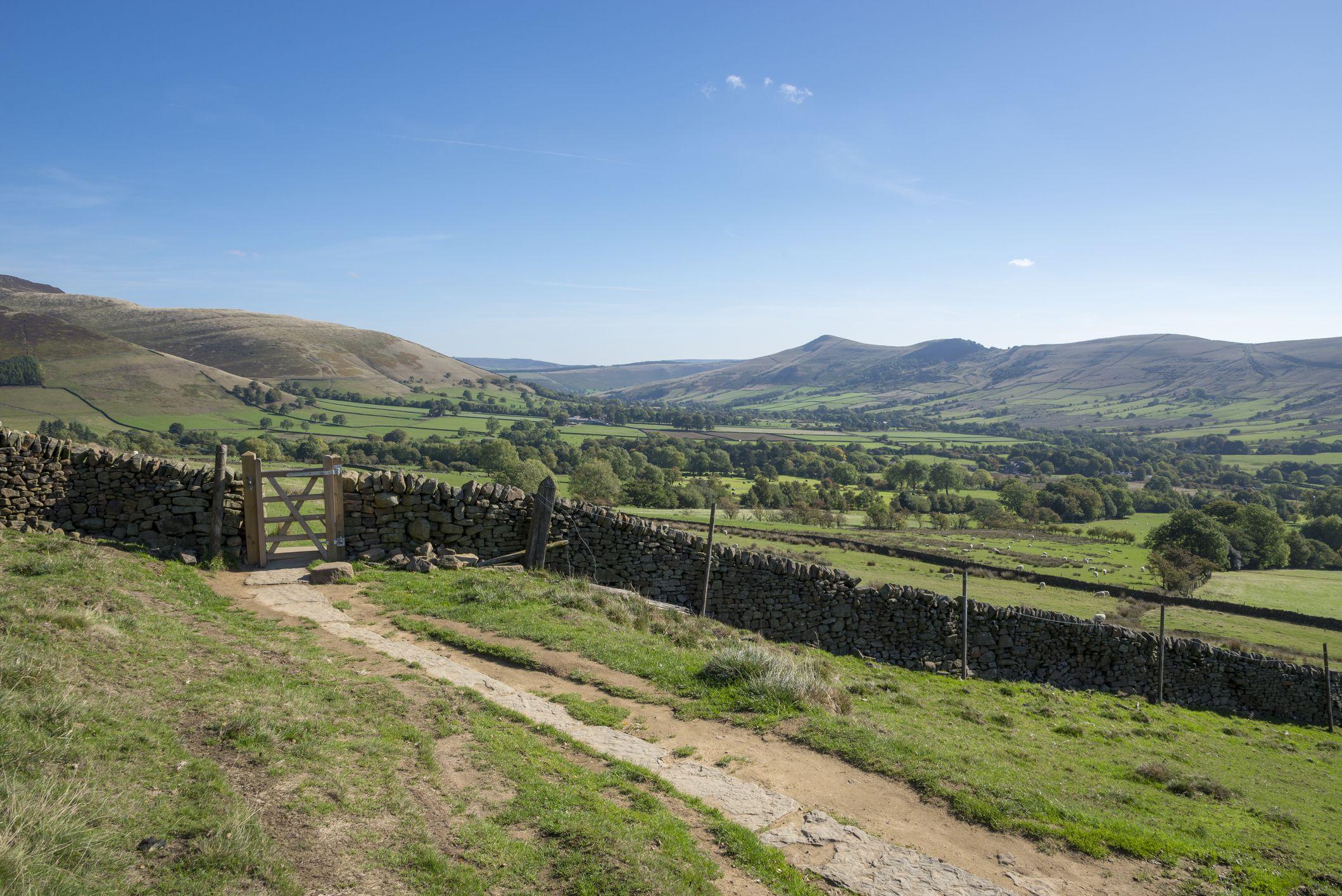 The Pennine Way at Edale, Peak District, Derbyshire, England