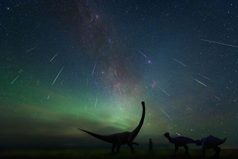 The Perseid meteor shower, shot In August 13, 2018, at erenhot, Inner Mongolia china