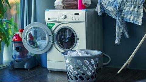 wasmachine met wasmand