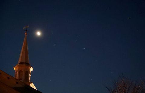 jupiter and mars visible over hanover, ma