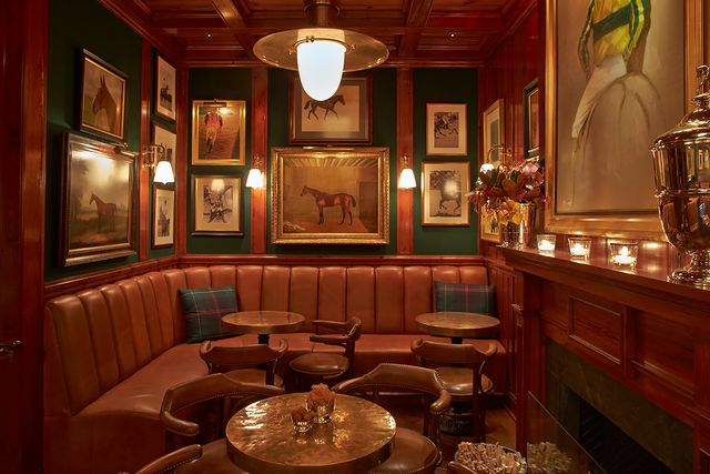 the clubroom at ralph lauren's polo bar