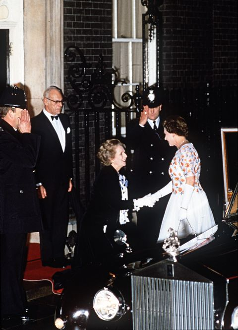 queen and pm margaret thatcher