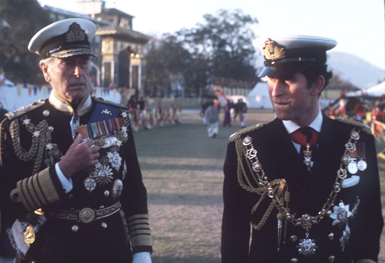 Charles i Mountbatten kraljevski posjet Nepalu 1975