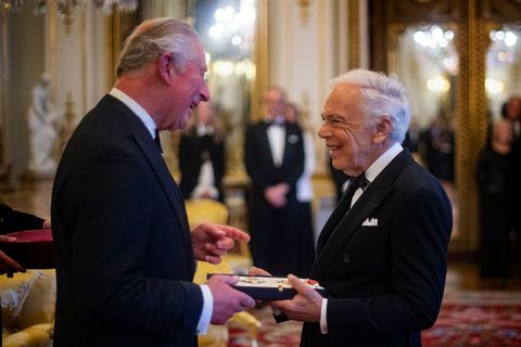 Ralph Lauren receives honorary Knighthood from prince charles