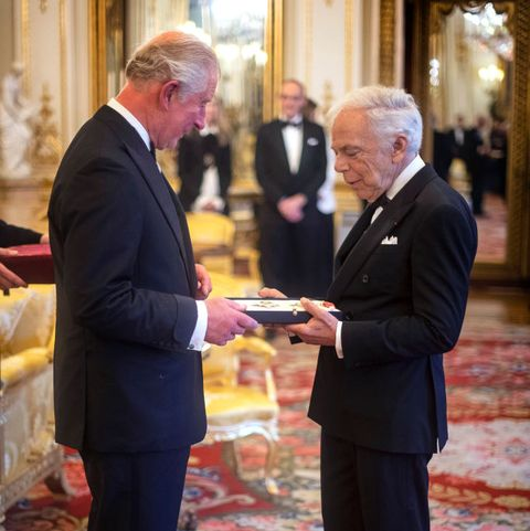 Ralph Lauren receives honorary Knighthood prince charles