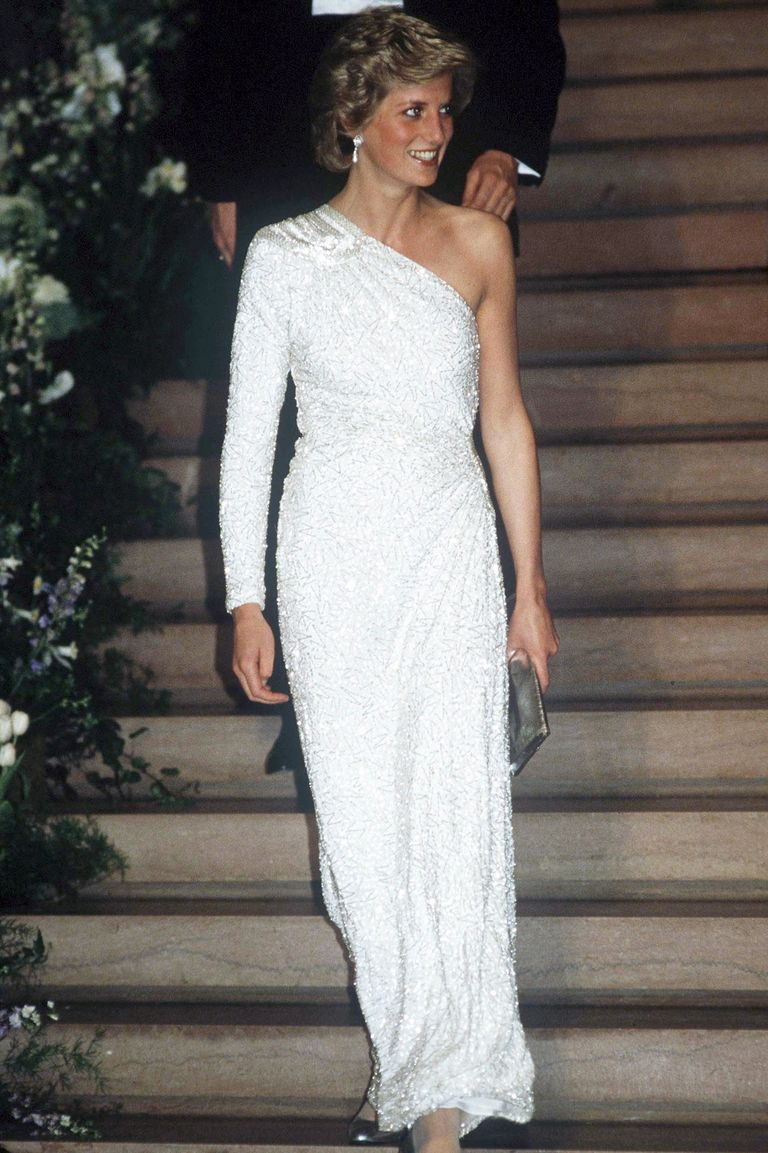 The Princess chose a white, crystal-beaded silk chiffon gown by Japanese designer Hachi for an event at the National Gallery in Washington D.C.