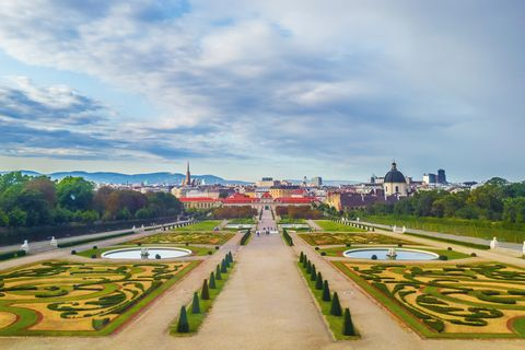 The public park Belvedere in Vienna
