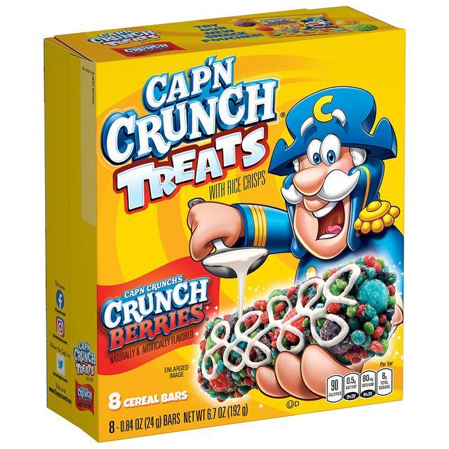 the quaker oats company cap'n crunch cereal crunch berries treats