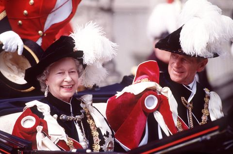 Queen And Prince Philip Garter Service