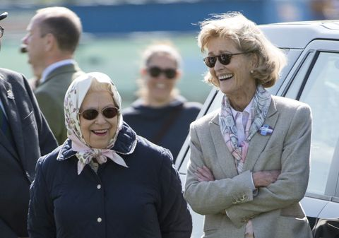 the queen and penny knatchull at the royal windsor horse show 2018