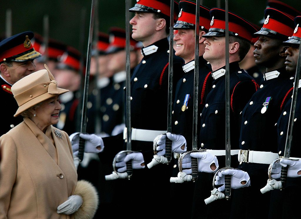 The Queen laughing at Prince Harry