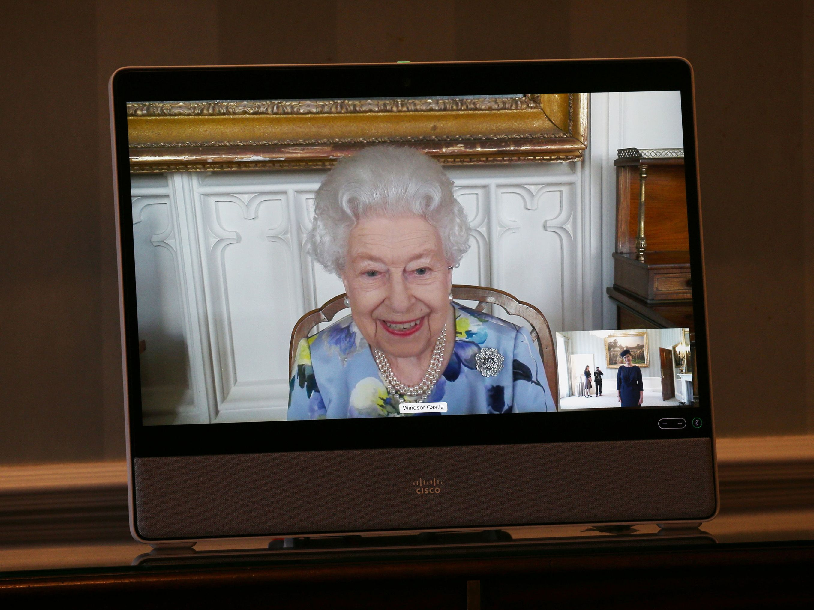 The Queen just made her first public appearance since Prince Philip's funeral