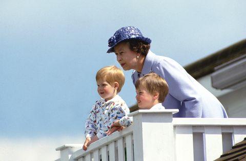 Queen Harry And William
