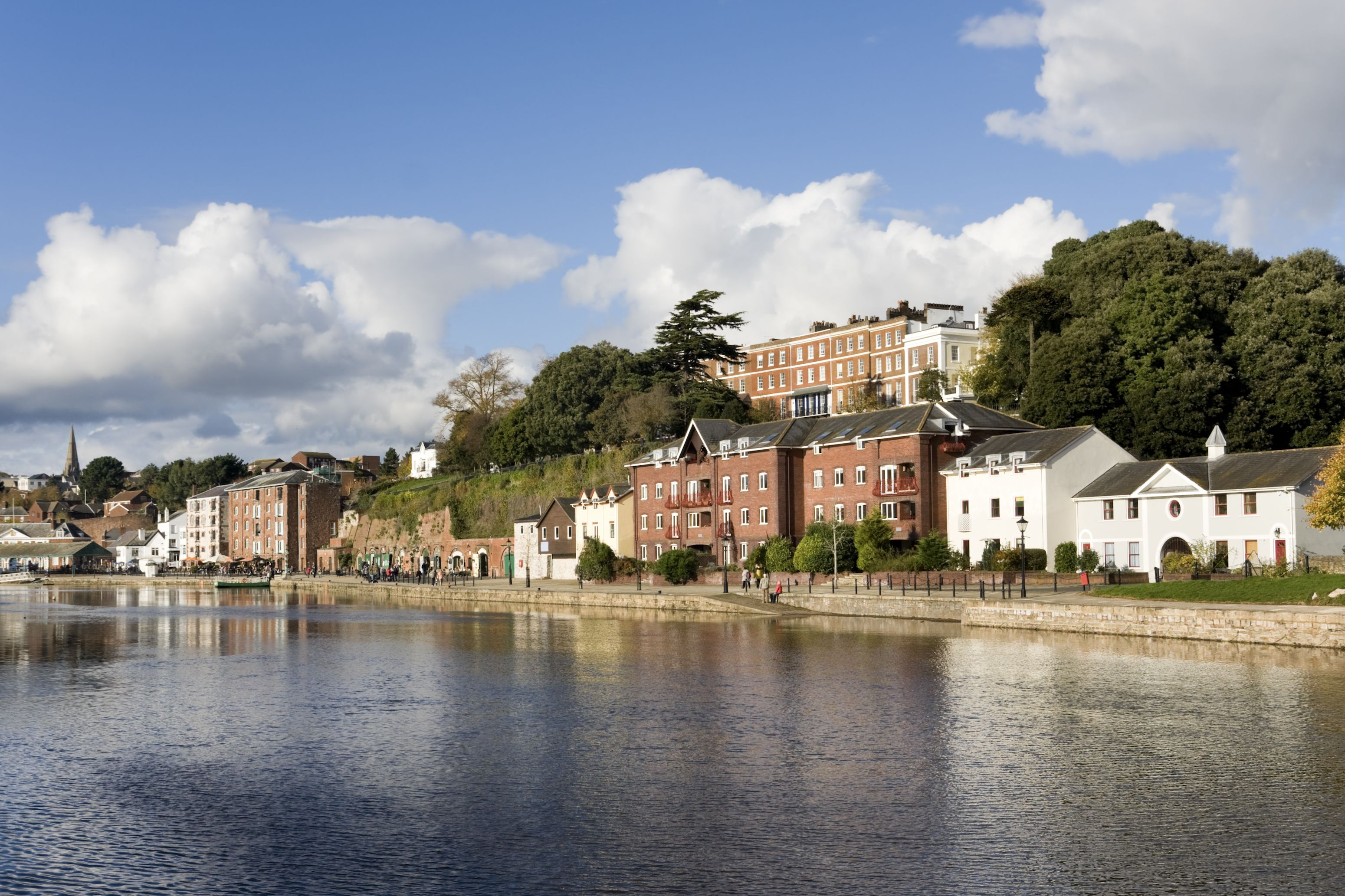 The river Exe and Exeter quayside in Devon