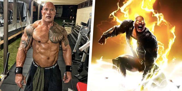 dwayne 'the rock' johnson 'black adam' training and diet