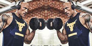 the rock dwayne johnson biceps