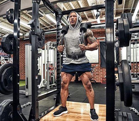 claves para dominar rutina de piernas de dwayne johnson 'the rock'